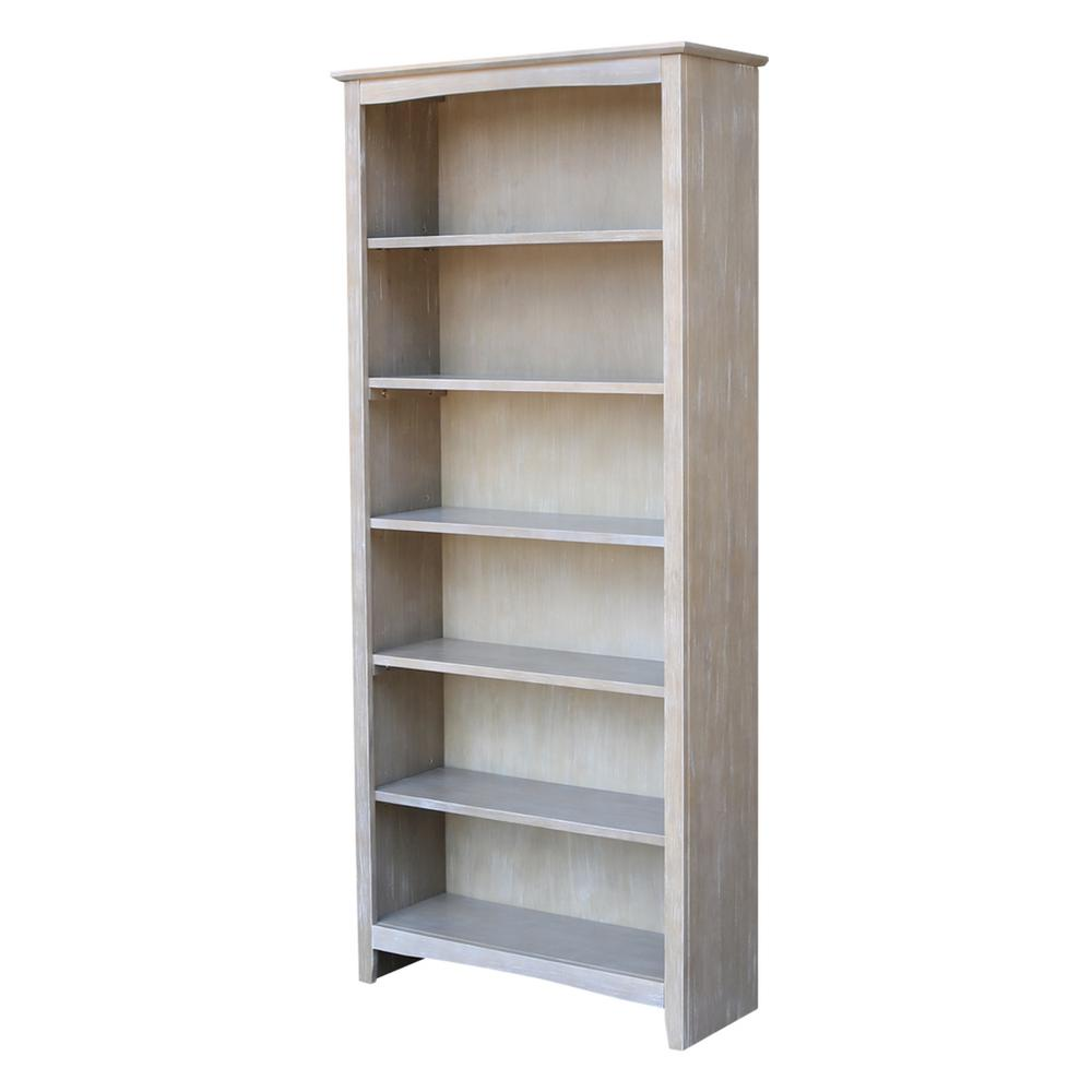 Brooklyn 72 In. H Weathered Gray Bookcase