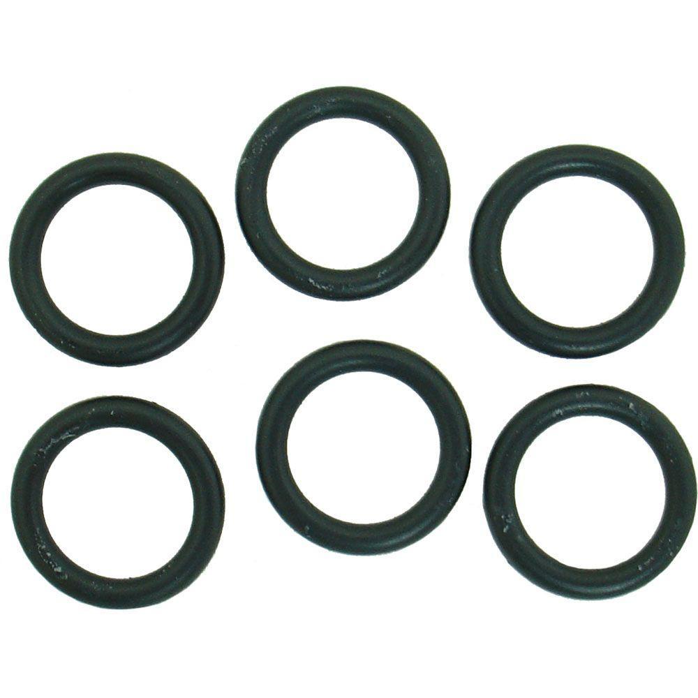 PartsmasterPro 11/16 in. O.D. x 1/2 in. I.D. #210 Rubber O-Ring (6 ...