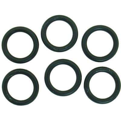 11/16 in. O.D. x 1/2 in. I.D. #210 Rubber O-Ring (6-Pack)
