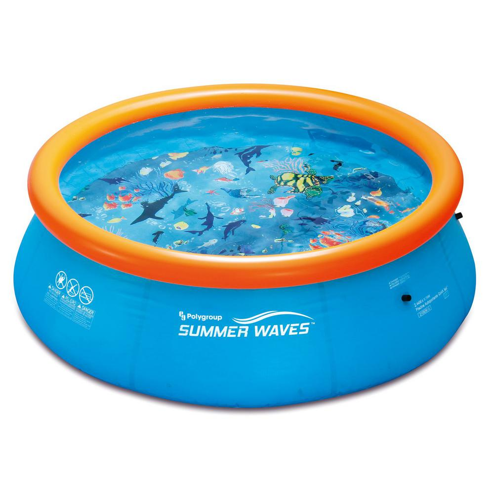 Summer Waves 3D Ring Quick Set 10 ft. x 30 in. D Inflatable Round Above Ground Pool