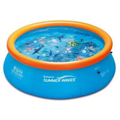 3D Ring Quick Set 10 ft. x 30 in. D Inflatable Round Above Ground Pool