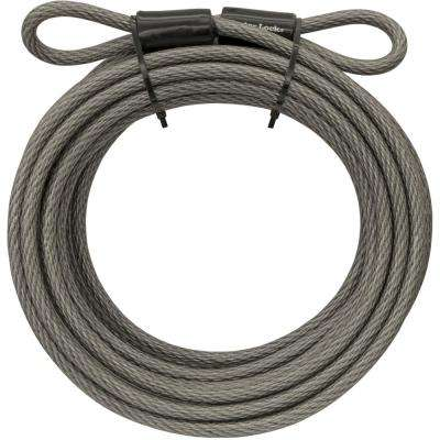 70D 30 ft Braided Steel Cable with Looped Ends and 3/8 in. Diameter