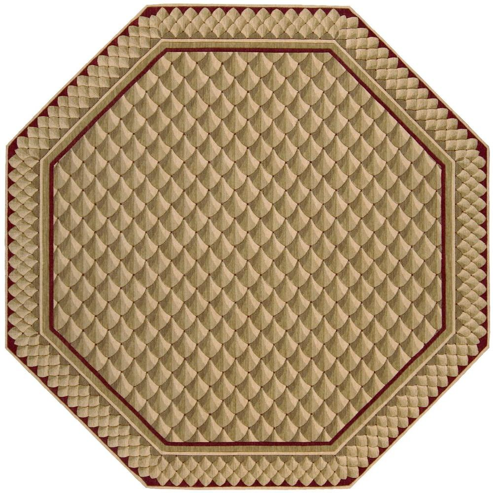 Nourison Vallencierre Camel 8 ft. Octagon Area Rug
