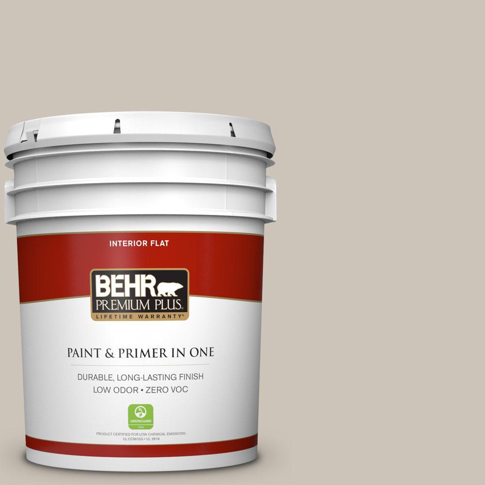 BEHR Premium Plus 5-gal. #720C-3 Wheat Bread Zero VOC Flat Interior Paint