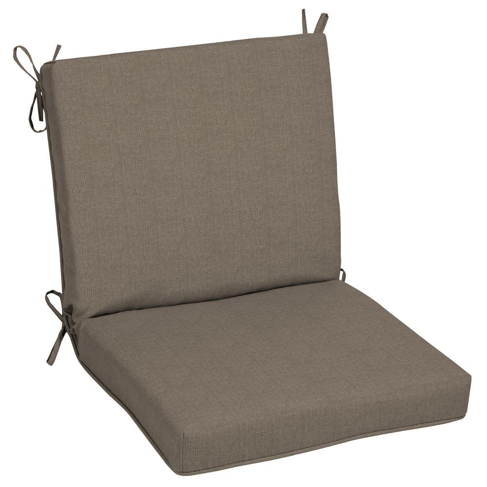 Oak Cliff 22 x 40 Sunbrella Cast Shale Mid Back Outdoor Dining Chair Cushion