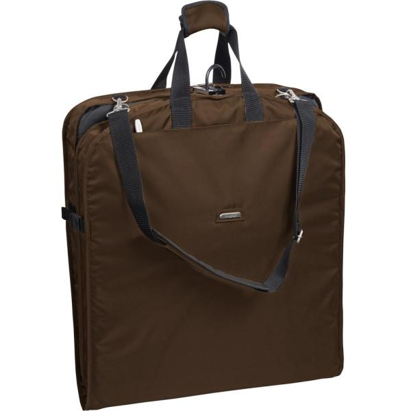 WallyBags 42 in. Brown Suit Length Carry-On Garment Bag with 2-Pockets and Shoulder Strap
