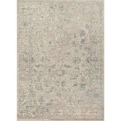 Campo Emily Beige Vintage Distressed Oriental 8 ft. 9 in. x 12 ft. 5 in. Area Rug