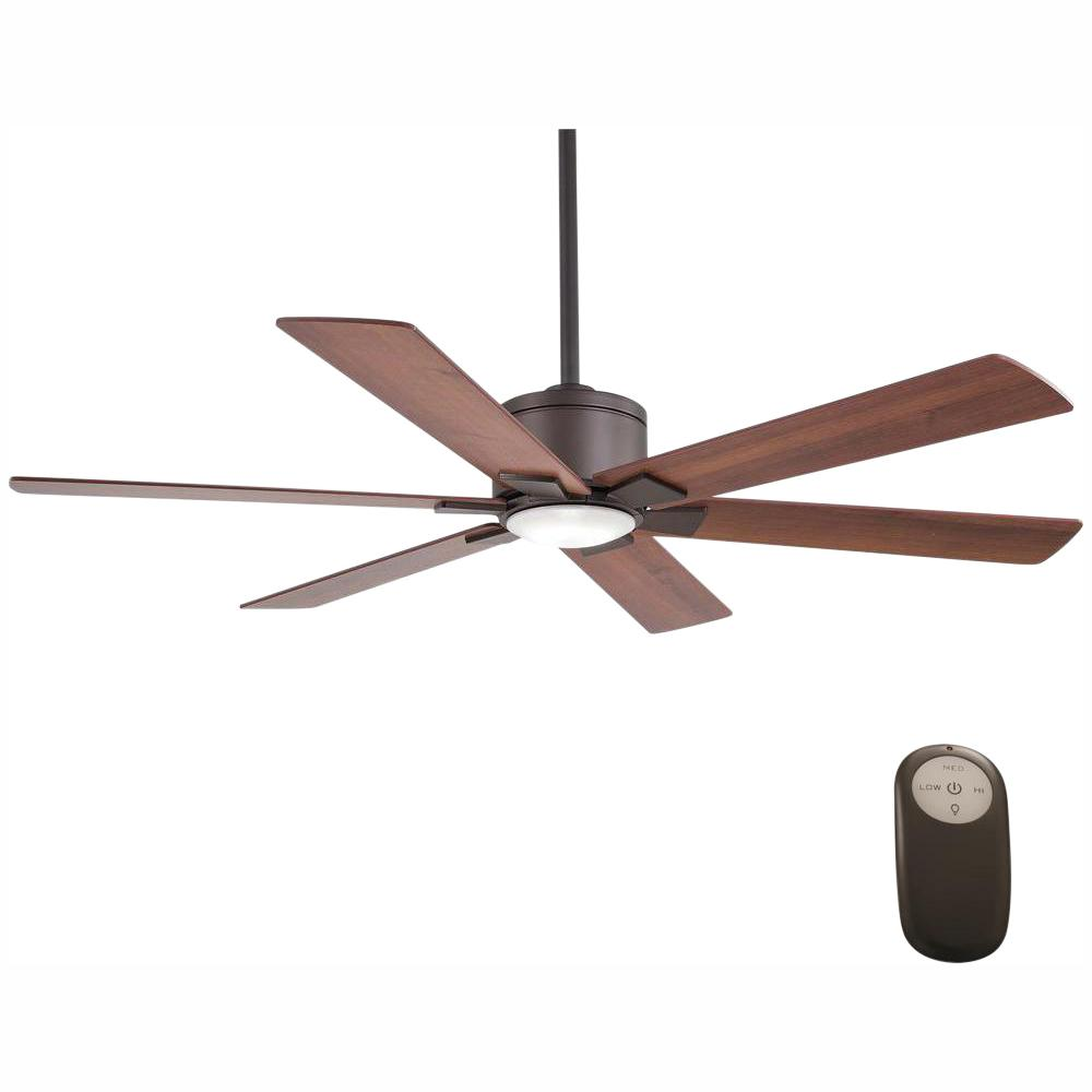 Home Decorators Collection Renwick 54 in. Integrated LED Indoor Oil Rubbed Bronze Ceiling Fan with Light Kit and Remote Control