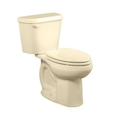 Colony 10 in. Rough-In 2-piece 1.6 GPF Single Flush Elongated Toilet in Bone, Seat Not Included