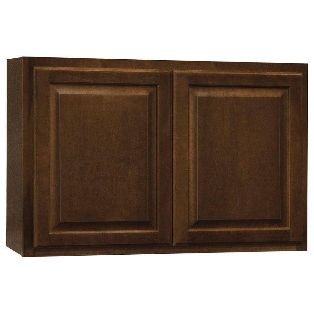 Hampton Bay Kitchen Cabinets Cognac: Hampton Bay Hampton Assembled 36x23.5x12 In. Wall Bridge