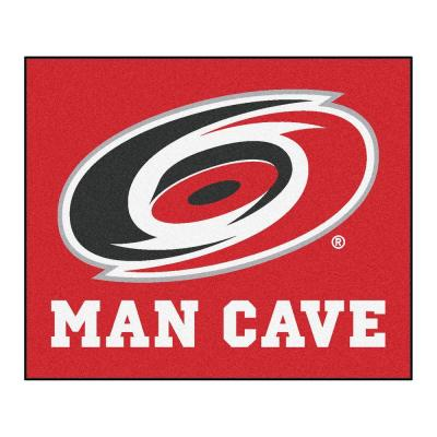Carolina Hurricanes Red Man Cave 5 ft. x 6 ft. Area Rug