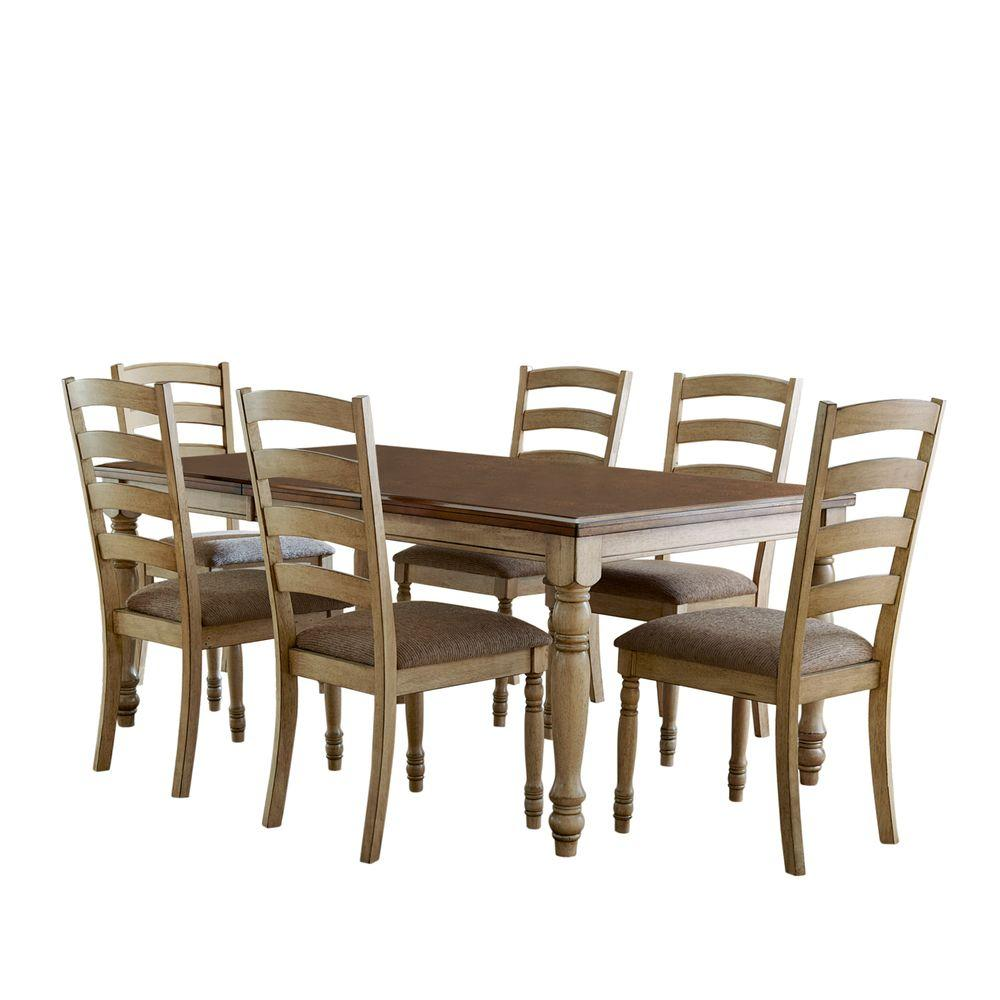 HomeSullivan Dana Point 7-Piece Buttermilk Dining Set-DISCONTINUED