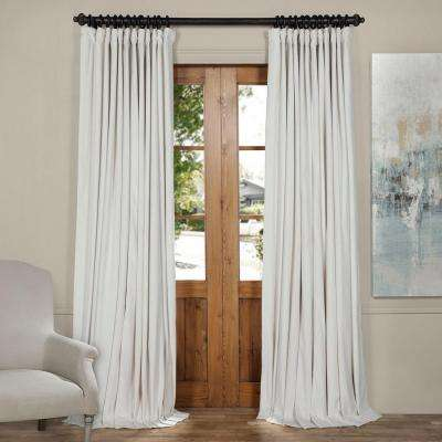 Blackout Signature Off White Doublewide Blackout Velvet Curtain - 100 in. W  x 96 in