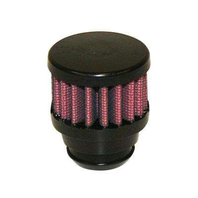 Rubber Top 1.25in OD - Push On 2in OD 1.5in Tall Breather Filter