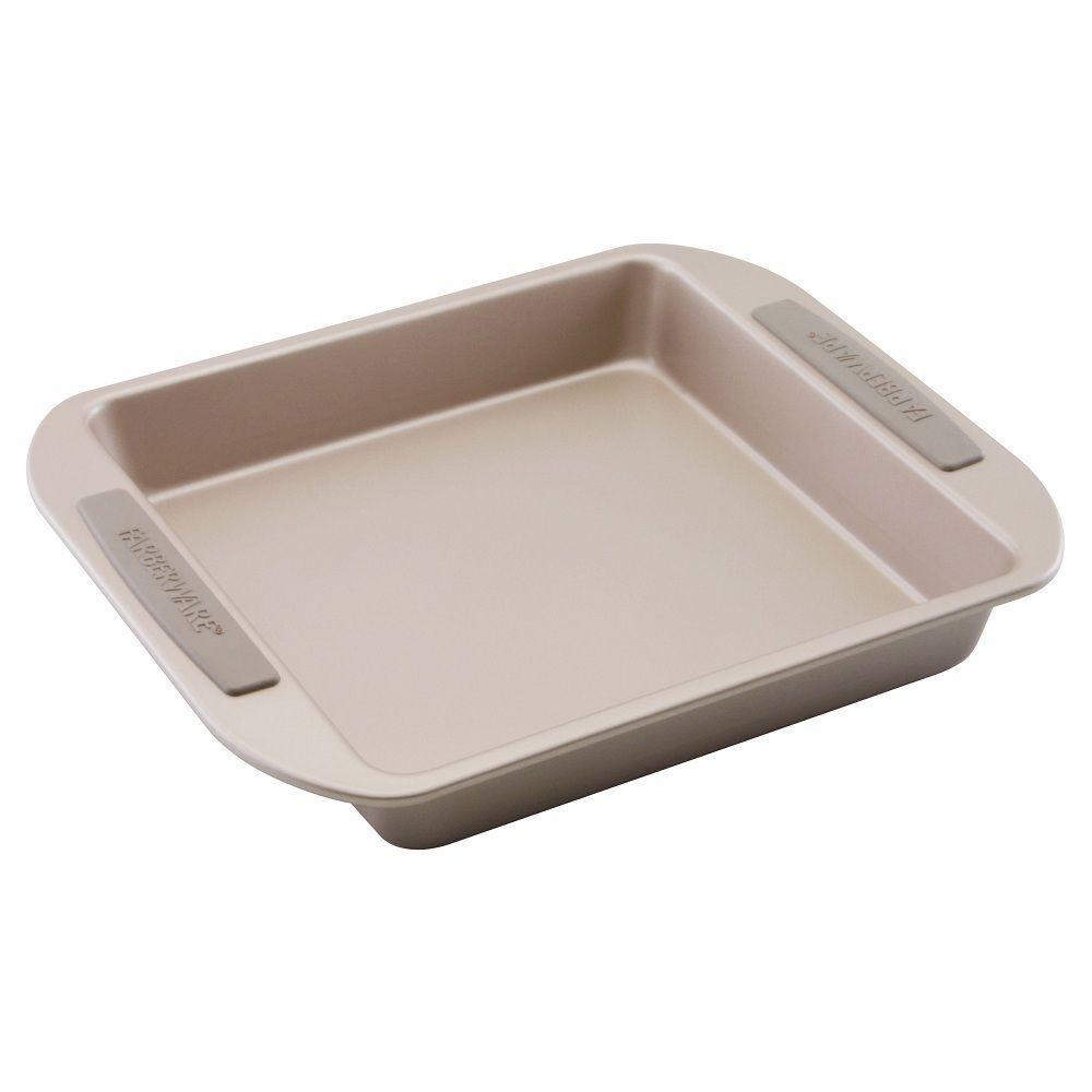Farberware 9 in. Square Cake Pan in Light Brown