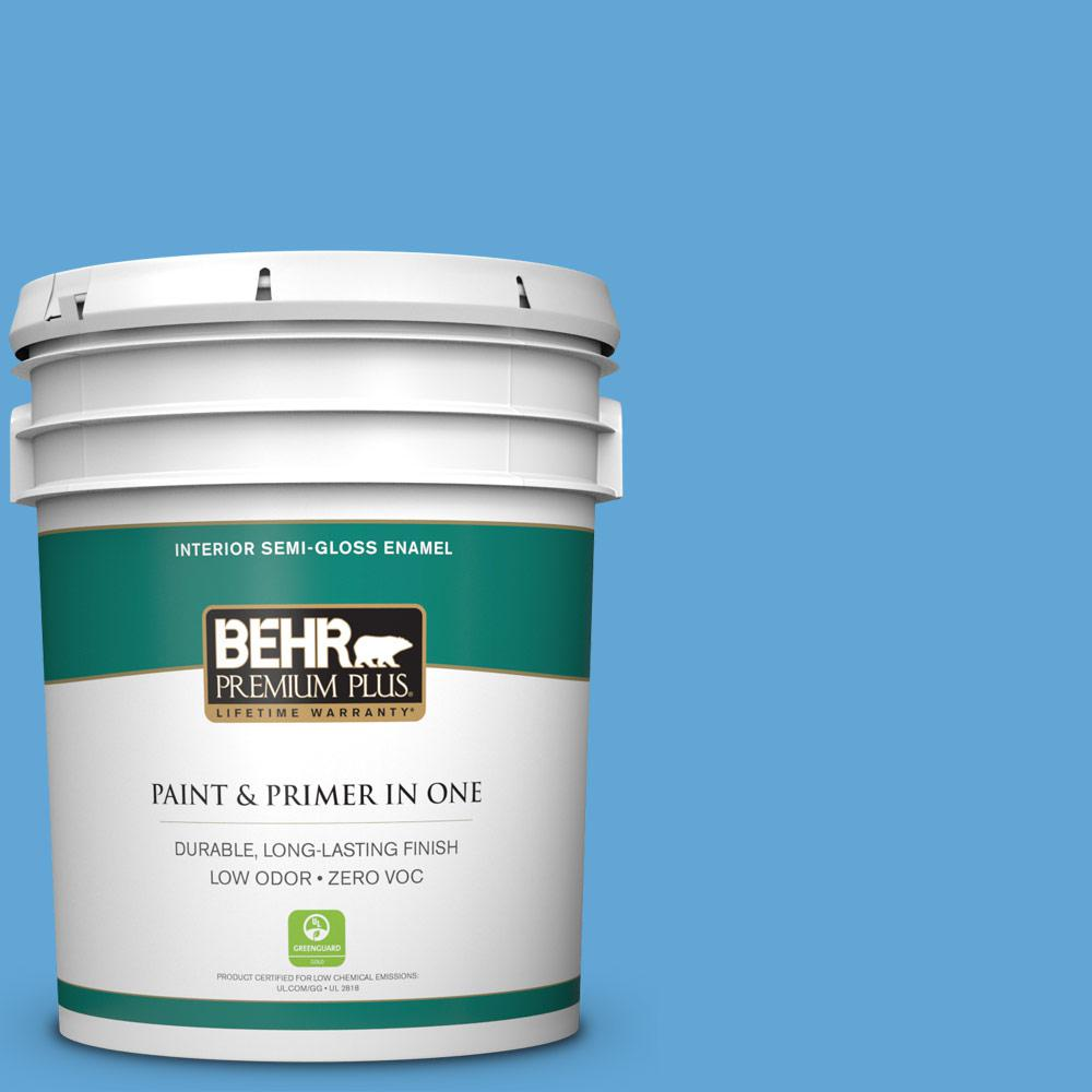 5-gal. #560B-5 Ocean Tropic Zero VOC Semi-Gloss Enamel Interior Paint