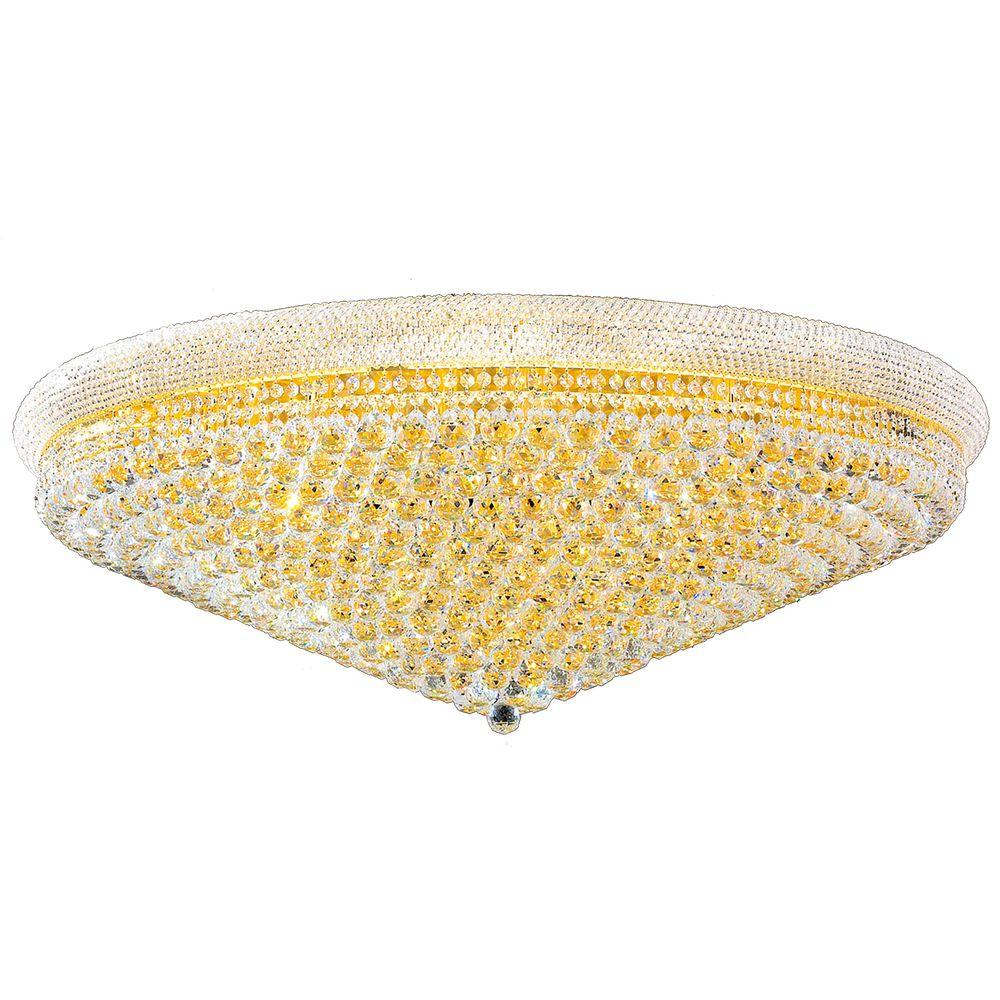 Empire Collection 33 Light Crystal And Gold Ceiling