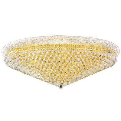 Empire Collection 33-Light Crystal and Gold Ceiling Light