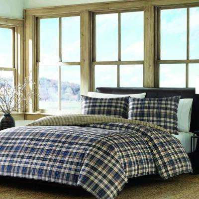 Port Gamble 2-Piece Dusted Indigo Twin Duvet Cover Set