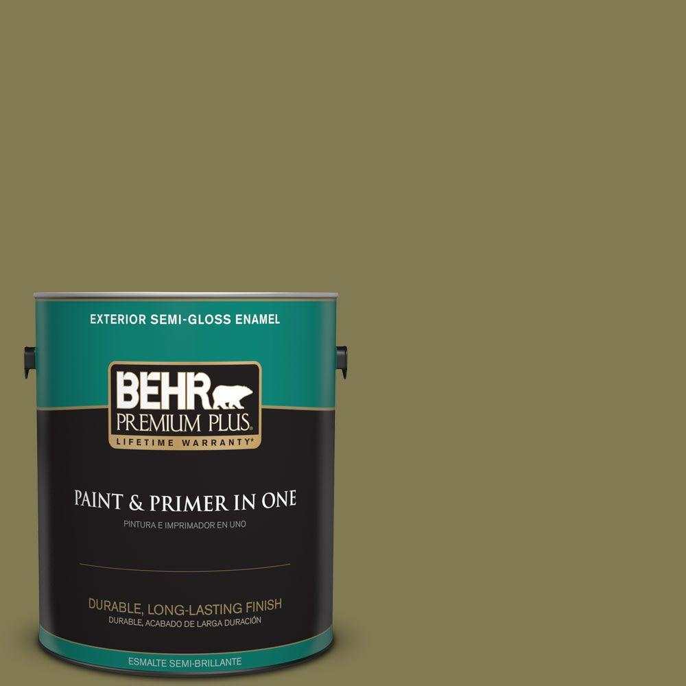 1 gal. #HDC-AC-16A Fern Grove Semi-Gloss Enamel Exterior Paint
