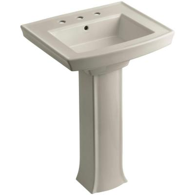 Archer Pedestal Combo Bathroom Sink in Sandbar