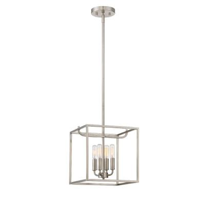 Uptown 4-Light Satin Platinum Interior Foyer
