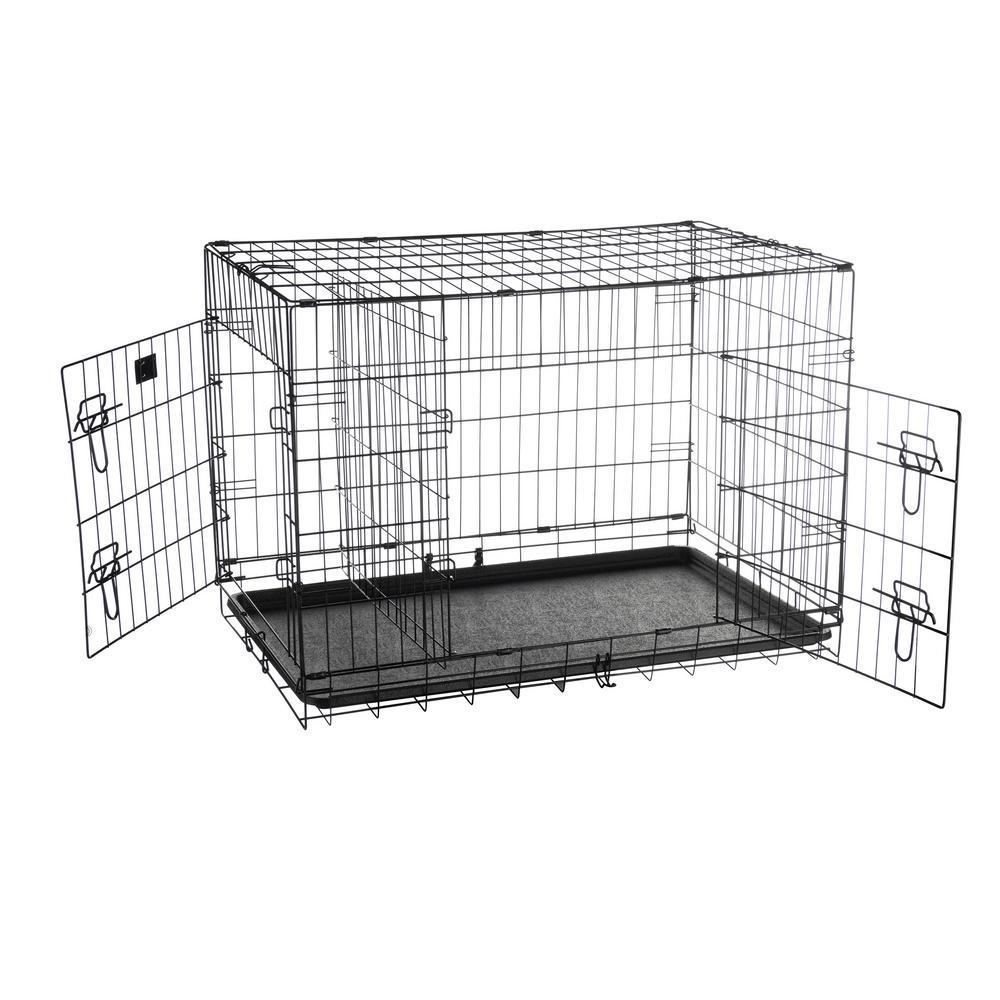 36 in. L x 22 in. W 2-Door Folding Pet Crate