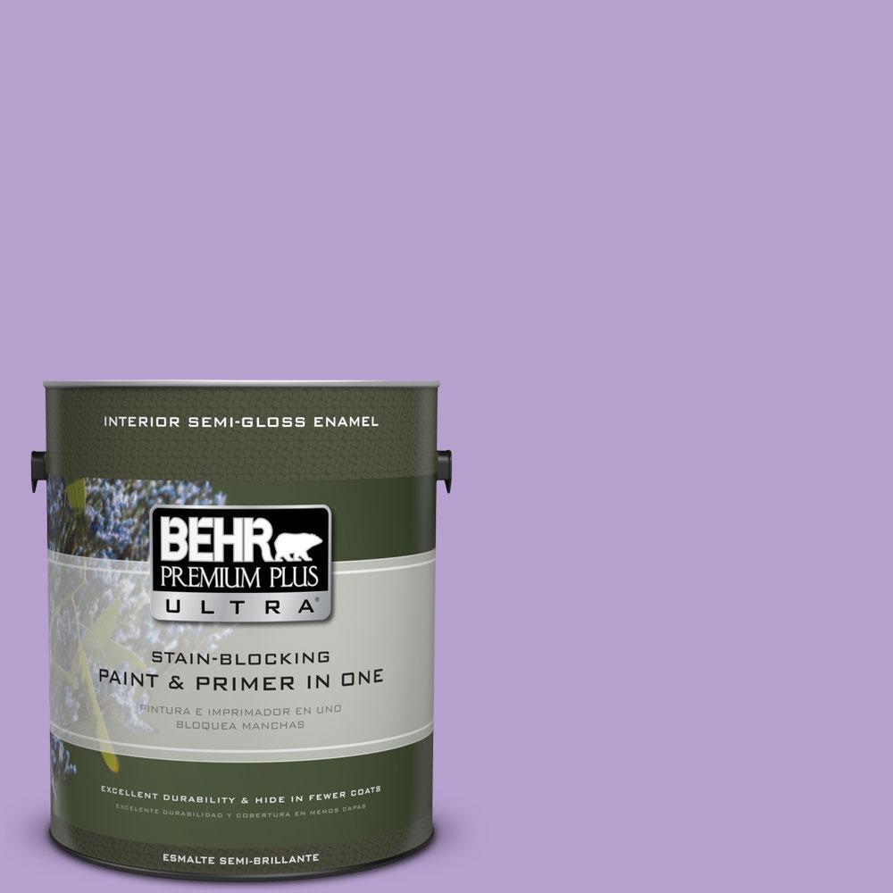 BEHR Premium Plus Ultra 1-gal. #P570-3 Flower Girl Semi-Gloss Enamel Interior Paint