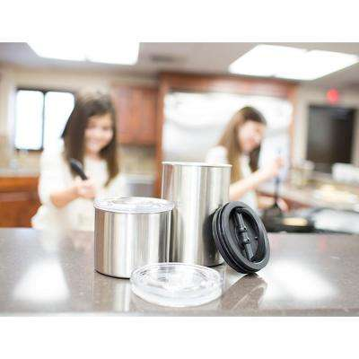32 oz. Brushed Stainless Steel Coffee and Food Storage Canister
