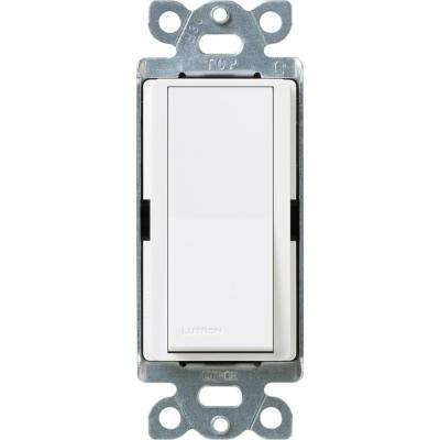 Claro 15 Amp Single-Pole Rocker Switch with Locator Light, Snow