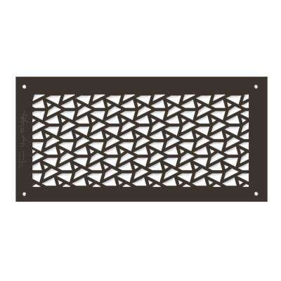 Frank Lloyd Wright Collection 6 in. x 14 in. DeRhodes Facets Grille Aluminum in Antique Bronze