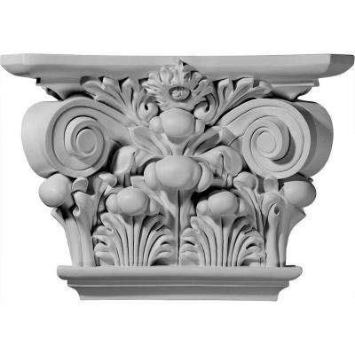 17-1/2 in. x 5-1/4 in. x 11-7/8 in. Primed Polyurethane Acanthus Leaf Capital