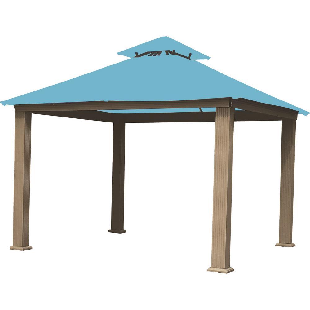 Caribbean Blue Gazebo - Patio - Gazebos - Sheds, Garages & Outdoor Storage - The Home Depot