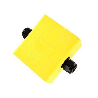 1-Gang Extra Deep Pendant Style Cable Dia 0.230 in. - 0.546 in. Portable Outlet Box, Yellow