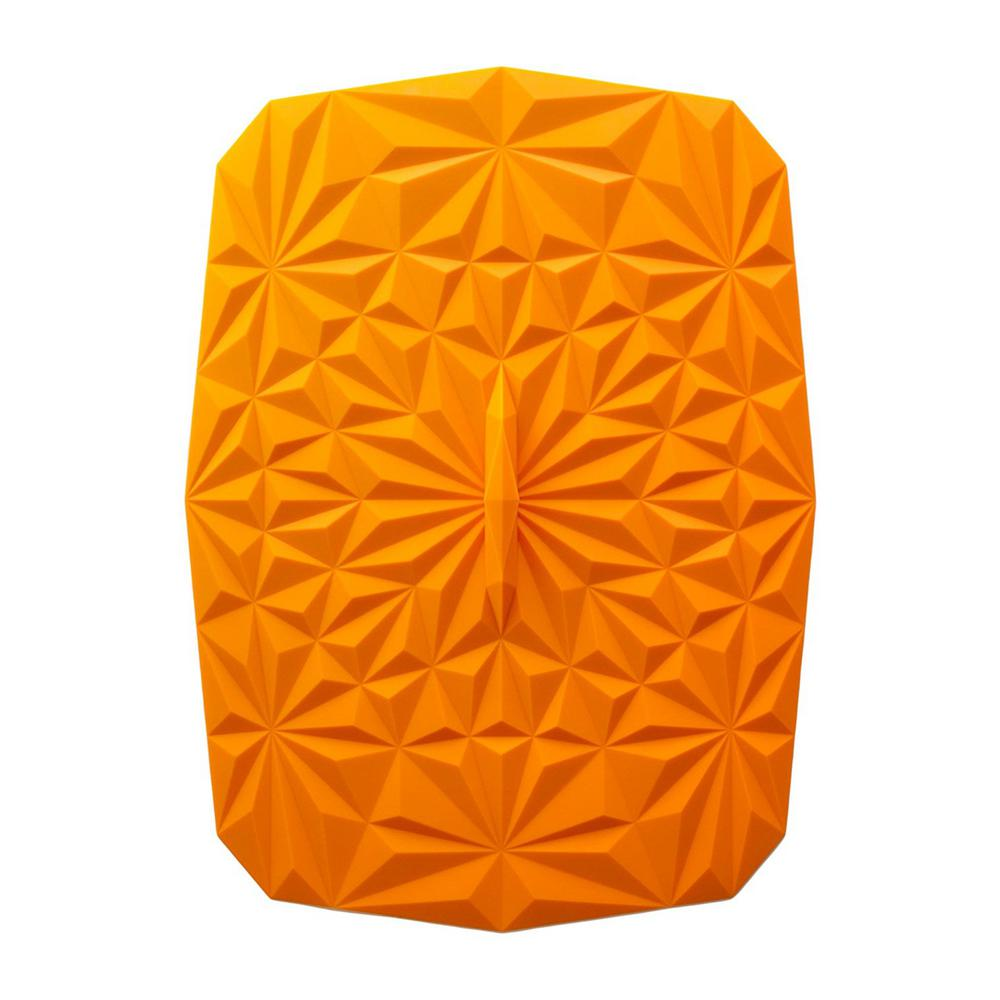 Rectangular Suction 9x13 Silicone Lid in Orange