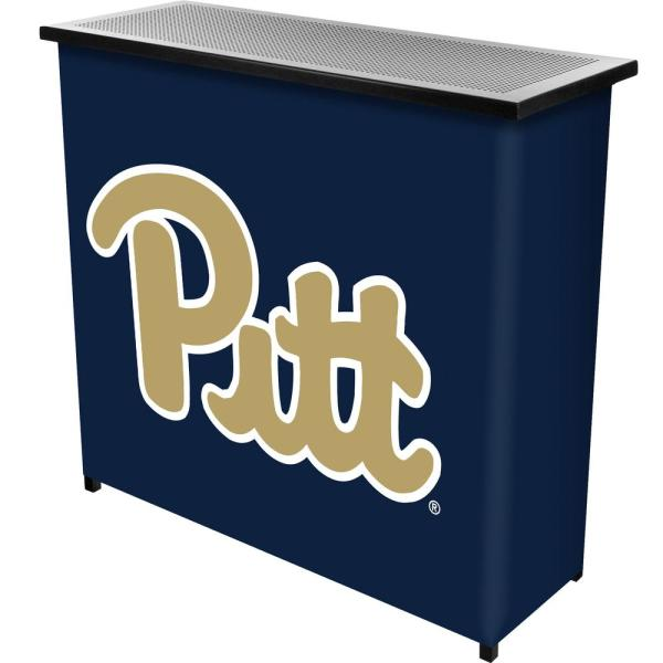 Trademark University Of Pittsburgh 2 Shelf Black Bar With Case
