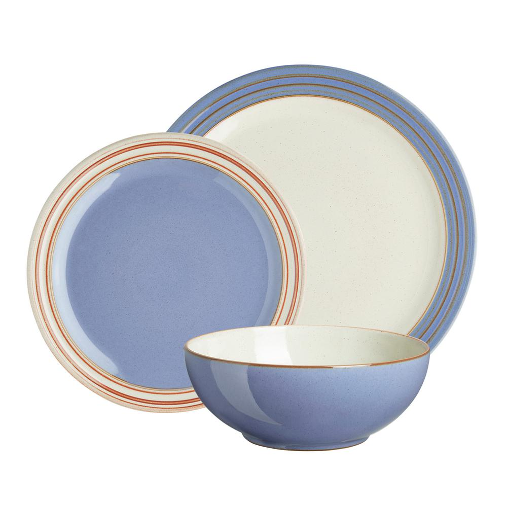 Denby Heritage Fountain 12-Piece Blue Dinnerware Set  sc 1 st  Home Depot & Denby Heritage Fountain 12-Piece Blue Dinnerware Set-FNT-12PC - The ...