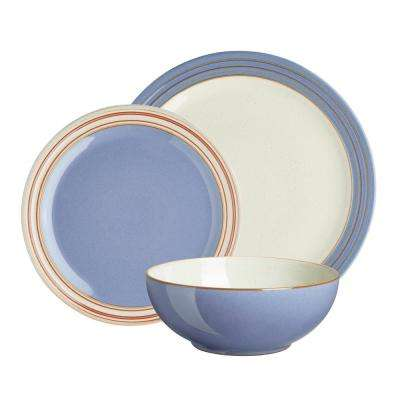 Heritage Fountain 12-Piece Blue Dinnerware Set