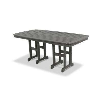 Yacht Club 37 in. x 72 in. Stepping Stone Patio Dining Table
