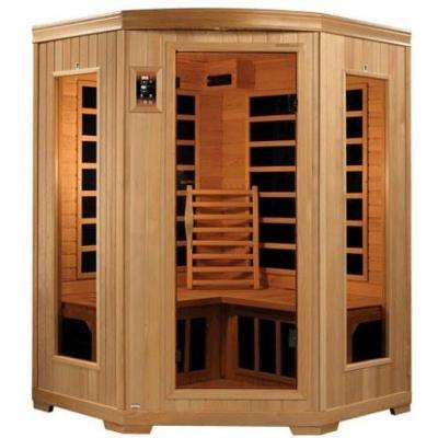 3-Person Carbon FAR Infrared Corner Sauna