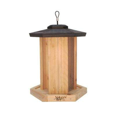 Cedar Triple Chamber Bird Feeder