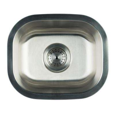 Undermount Stainless Steel 15 in. Single Bowl Kitchen Sink With Strainer