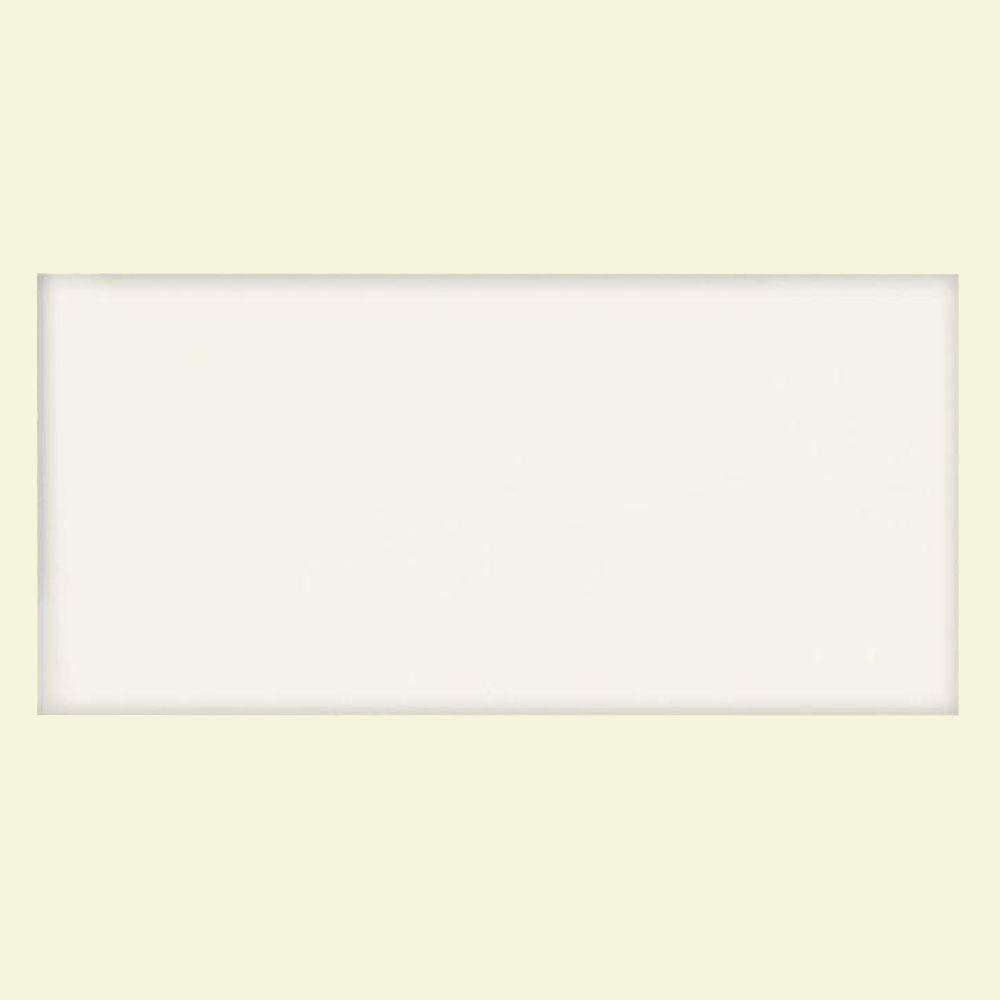 U.S. Ceramic Tile Matte Snow White 3 in. x 6 in. Ceramic Wall Tile-DISCONTINUED