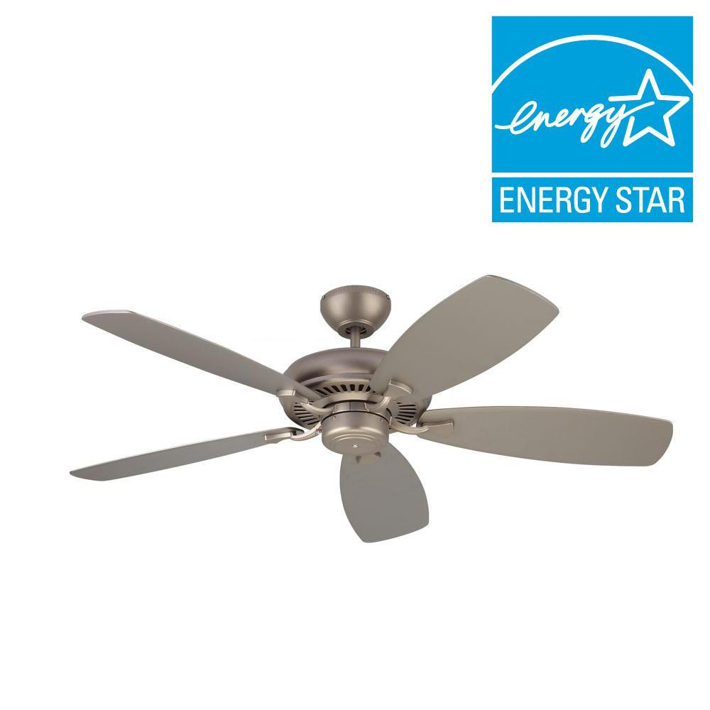 Monte Carlo Designer Max 52 in. Brushed Pewter Silver Ceiling Fan