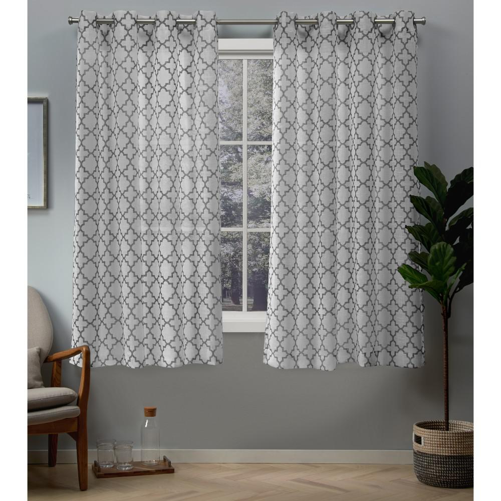 Exclusive Home Curtains Helena 54 In. W X 63 In. L Sheer