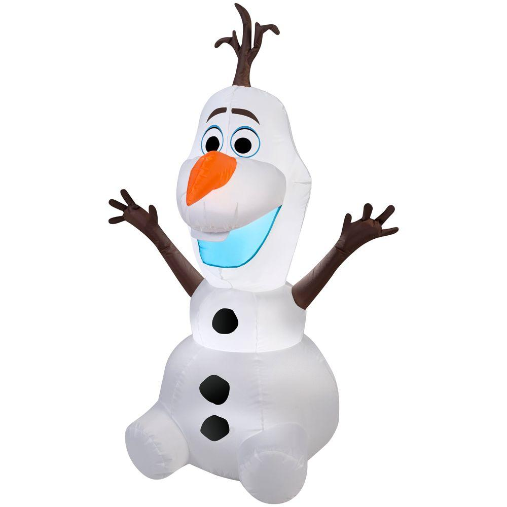 42 in. Lighted Inflatable Olaf