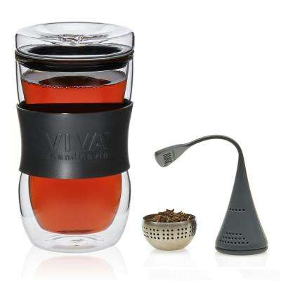 Minima Glass Travel Tea Mugs and Infusion Tea Eggs 4-Piece Set