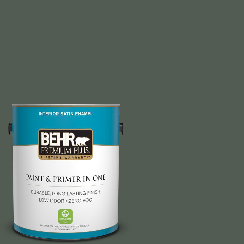 1 gal. #PPU10-20 Pastoral Zero VOC Satin Enamel Interior Paint