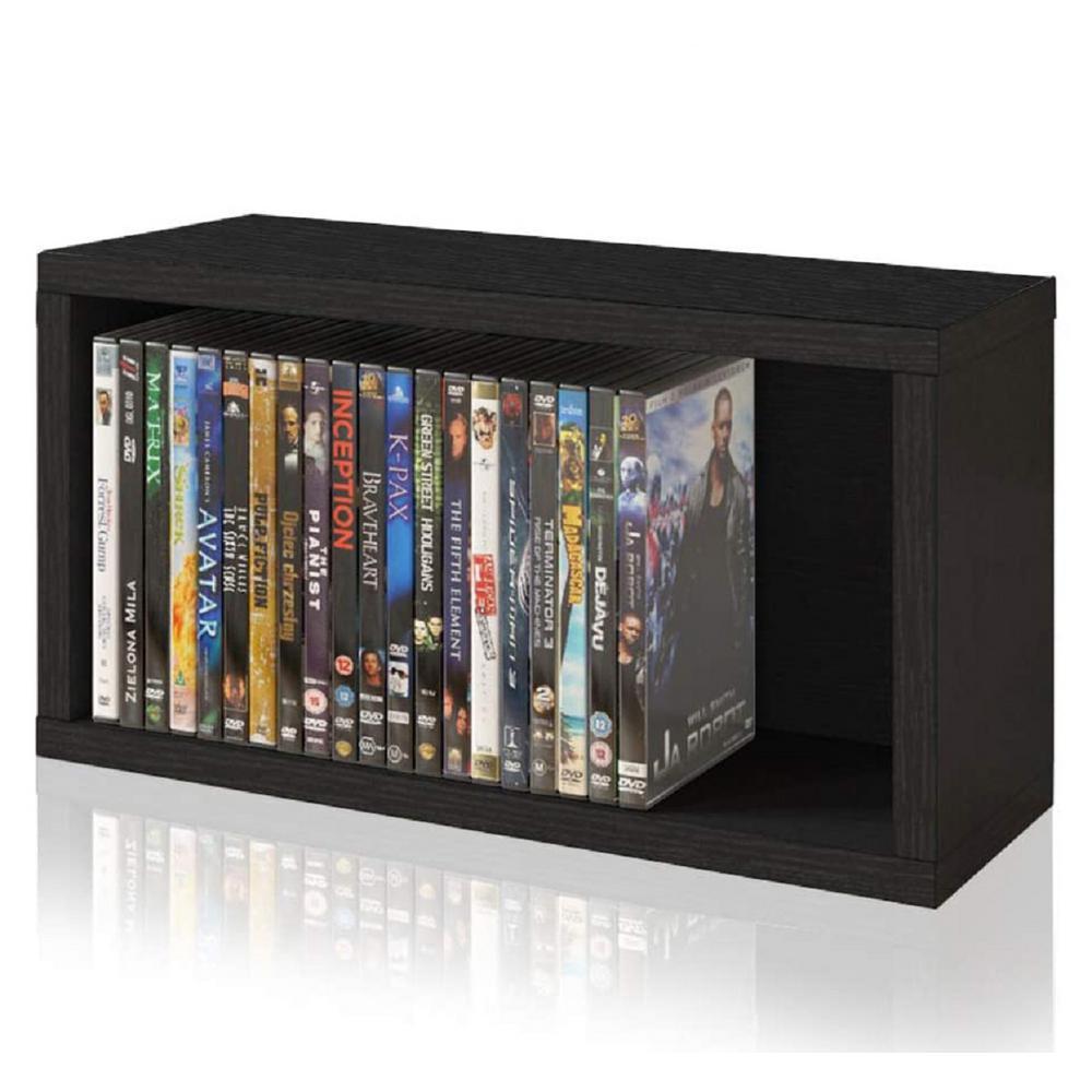 zBoard Black Stackable DVD Rack Storage