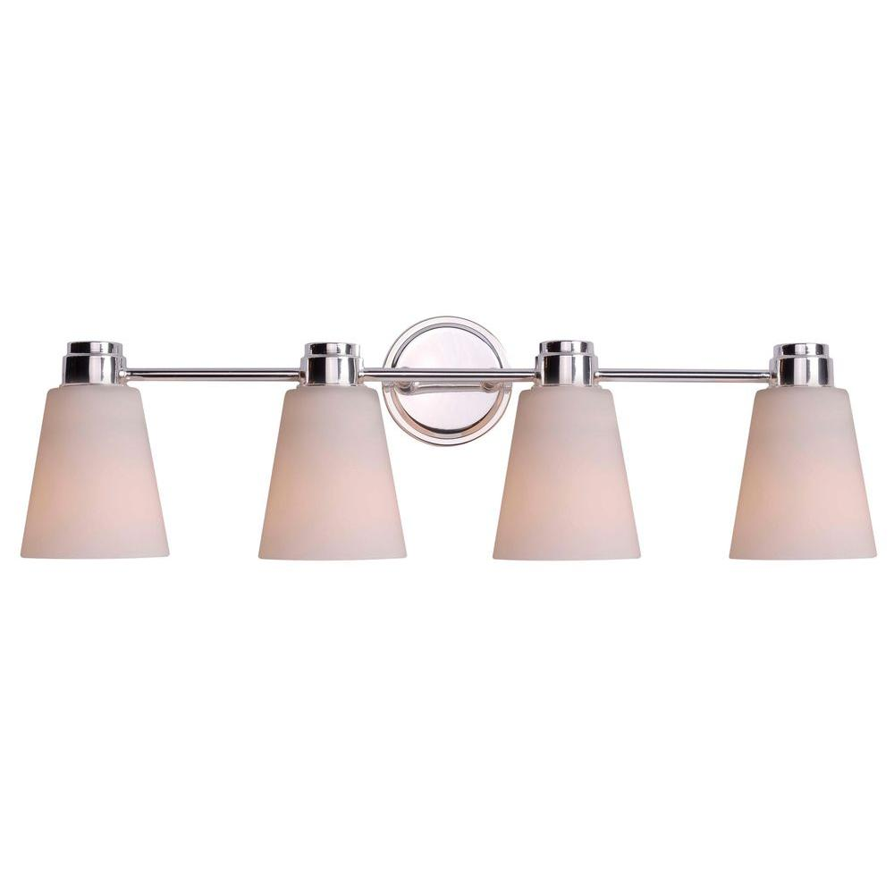 Kenroy Home Rockdale 4-Light Polished Nickel Vanity Light